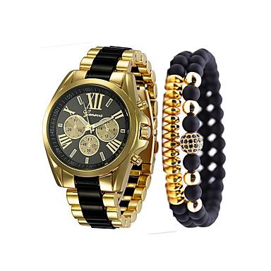 levne Luxusní hodinky-Pánské Náramkové hodinky Křemenný Nerez Černá   Bílá    Modrá Chronograf Hodinky 43d3cf6f0d6