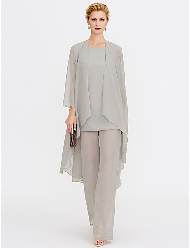 505de88d1f52 Παντελόνια Σχήμα U Μέχρι τον αστράγαλο Σιφόν Φόρεμα Μητέρας της Νύφης με  Πλισέ με LAN TING BRIDE®