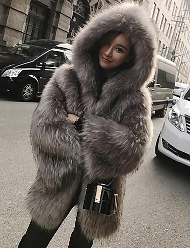 8f727f532b58 Χαμηλού Κόστους Women  039 s Fur  amp  Faux Fur Coats-Γυναικεία Δουλειά