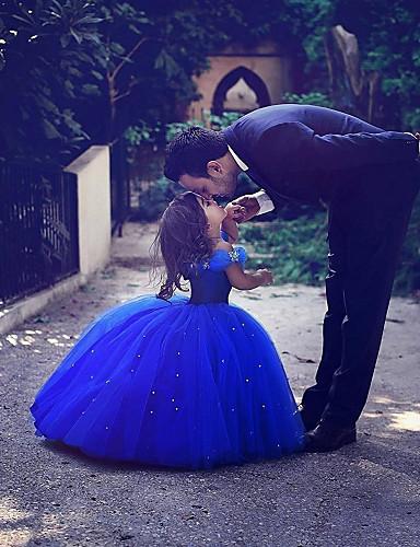 3ade7d8da50 Πριγκίπισσα Μάξι Φόρεμα για Κοριτσάκι Λουλουδιών - Σατέν / Τούλι Αμάνικο  Στράπλες με Κρύσταλλοι / Στρας με LAN TING Express