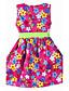 Kız Çiçekli Pamuklu Yaz / Bahar Mor Elbise