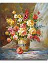 Peint a la main A fleurs/Botanique Carre Un Panneau Toile Peinture a l\'huile Hang-peint For Decoration d\'interieur