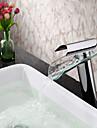baie chiuveta robinet de sticlă contemporan cioc maner singur cascada robinet
