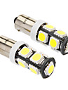 BA9S 4w 9x5060smd 320-360lm 6000-6500K lumiere blanche Ampoule LED pour la voiture (dc 12v, 2-pack)