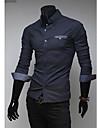 cămașă nouă de cauzalitate culoare de contrast dinuo bărbați