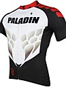 ILPALADINO Maillot de Cyclisme Homme Manches Courtes Velo Maillot Hauts/Tops Sechage rapide Resistant aux ultraviolets Respirable 100 %