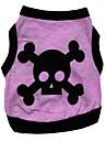 Chat Chien Tee-shirt Violet Vetements pour Chien Printemps/Automne Cranes Coeur