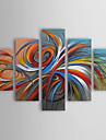 Peint a la main Abstrait Toute Forme,Moderne Traditionnel Cinq Panneaux Peinture a l\'huile Hang-peint For Decoration d\'interieur