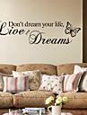 Cuvinte & Citate Perete Postituri Autocolante perete plane Autocolante de Perete Decorative,PVC Material Detașabil Pagina de decorarede