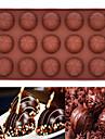 15 gaura tort mousse de ciocolata din silicon mucegai mucegai de copt (ciocolata rotund) (culoare aleatorii)