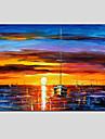 Peint a la main Paysages Abstraits Horizontale,Moderne Style europeen Un Panneau Peinture a l\'huile Hang-peint For Decoration d\'interieur