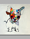 Peint a la main Animal Moderne Un Panneau Toile Peinture a l\'huile Hang-peint For Decoration d\'interieur
