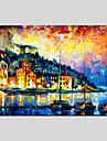 Peint a la main Paysages AbstraitsClassique / Realisme / Pastoral / Style europeen / Modern Un Panneau Toile Peinture a l\'huile Hang-peint