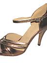 Chaussures de danse(Marron) -Personnalisables-Talon Personnalise-Similicuir-Latine Salsa Salon