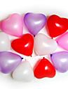 Ballons 100pcs Coeur de forme Fetes de mariage de fete d\'anniversaire Decoration Fournitures Ballon Parti Decora