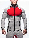 Homme Manches Longues Respirable Confortable Shirt Sweat a capuche Hauts/Top pour Exercice & Fitness Courses Course/Running Coton Mince