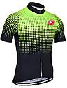 KEIYUEM Maillot de Cyclisme Unisexe Manches Courtes Velo Maillot Sechage rapide Resistant aux ultraviolets Zip frontal Antistatique