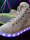Unisex Adidași Primăvară Toamnă Iarnă Pantofi pe Gleznă Aprinde saboții Confortabili Pantofi Moi PU Casual Atletic Toc PlatCristal