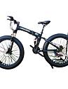 Velo de Neige Velo pliant Cyclisme 21 Vitesse 26 pouces/700CC 40 mm SHIMANO 51-7 Frein a Double Disque Fourche a Suspension Cadre en