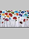 Pictat manual Floral/Botanic Orizontal,Modern Stil European Un Panou Canava Hang-pictate pictură în ulei For Pagina de decorare