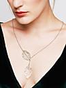 Pentru femei Coliere cu Pandativ Leaf Shape Plastic Ajustabile La modă costum de bijuterii Bijuterii Pentru Nuntă Petrecere Zilnic Casual