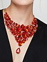 Pentru femei Coliere Coliere cu Pieptar Flower Shape Piatră Preţioasă Reșină La modă European bijuterii de lux Elegant costum de bijuterii