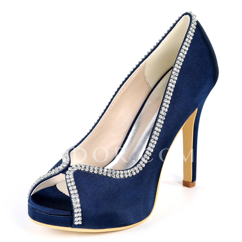 6d86dd9cb331 ADOR® Women's Pumps Satin Spring & Summer Sweet / Minimalism Wedding Shoes  Stiletto