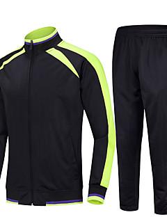 cheap -Men's 2 Piece Full Zip Tracksuit Sweatsuit Jogging Suit Casual Athleisure Winter Long Sleeve Thermal Warm Windproof Soft Fitness Running Jogging Sportswear Jacket Track pants White Black Dark Blue