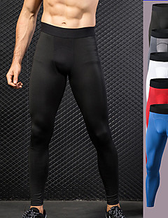 cheap -Men's Athletic Running Tights Leggings Compression Pants Base Layer Bottoms Spandex Mesh Patchwork Fitness Gym Workout Performance Running Training Winter Quick Dry Moisture Wicking Breathable Sport