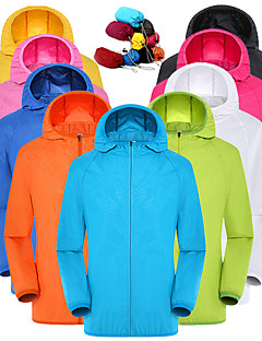 cheap -Women's Men's Long Sleeve Windbreaker Rain Jacket Running Skin Jacket Full Zip Outerwear Top Athleisure Summer Packable UV Sun Protection Quick Dry Hiking Running Jogging Training Exercise Sportswear