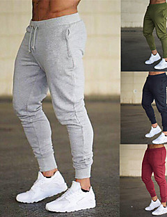 cheap -Men's Sweatpants Joggers Athletic Bottoms Drawstring Basic Tapered Fitness Gym Workout Performance Running Training Breathable Soft Sweat wicking Normal Sport Solid Colored Dark Grey Black Blue Red