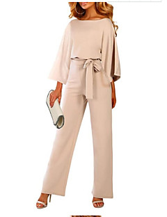 cheap -Women's Casual Casual Daily 2021 khaki Black Dark Blue Jumpsuit Solid Color