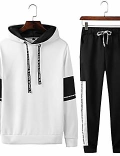 cheap -spring autumn sportswear fitness tracksuit 2pc sweatshirt+sweat pants 738 white l