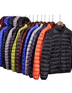 cheap -Men's Long Sleeve Sports Puffer Jacket Outdoor Down Jacket Full Zip Outerwear Coat Top Casual Athleisure Winter Cotton Thermal Warm Waterproof Windproof Fitness Running Jogging Training Sportswear