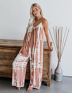 cheap -LITB Basic Women's Printed Jumpsuit Wide-Leg Leisure Pants Daily Comfy