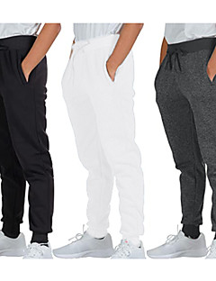 cheap -Men's Sweatpants Joggers Track Pants Casual Bottoms Drawstring Cotton Fitness Gym Workout Performance Running Training Breathable Soft Sweat wicking Normal Sport Solid Colored White Black Dark Gray