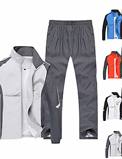 cheap -Men's Long Sleeve Adults Tracksuit Sweatsuit Outfit Set Clothing Suit 2 Piece Zipper Pocket 2 Pieces Street Causal Fall Warm Breathable Soft Polyester Fitness Running Jogging Exercise Sportswear