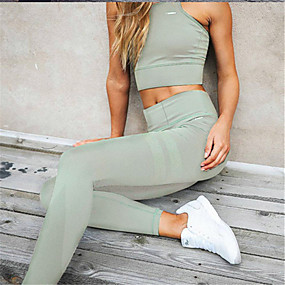 cheap -Women's Daily Sports Sporty Legging Solid Colored Sporty Stylish Black Wine Army Green S M L