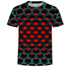 preiswerte -Herren T-Shirt 3D-Druck Grafik 3D-Druck Übergrössen Kurzarm Normal Oberteile Street Schick Übertrieben Weiß Purpur Rote