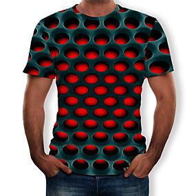 preiswerte -Herren T-Shirt Grafik 3D-Druck Kurzarm Normal Oberteile Street Schick Übertrieben Purpur Gelb Rot
