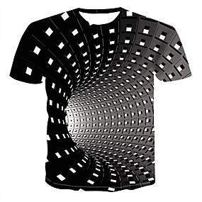 preiswerte -Herren T-Shirt Grafik 3D-Druck Übergrössen Kurzarm Alltag Oberteile Street Schick Punk & Gothic Schwarz Blau Purpur