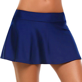 cheap -Women's Active Basic Skirts Knitting Solid Colored Black Navy Blue Gray