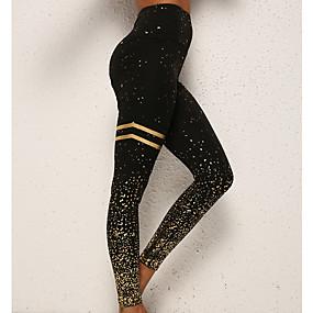 preiswerte -Damen Alltagskleidung Grundlegend Legging Druck Druck Hohe Taillenlinie Weiß Schwarz Rosa S M L