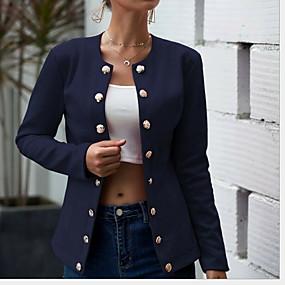 cheap -Women's Peaked Lapel Blazer White / Black / Red S / M / L