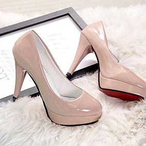 cheap -Women's Heels Stiletto Heel Round Toe PU Summer Black / Almond / White