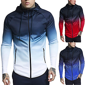 cheap -JACK CORDEE Men's Long Sleeve Running Track Jacket Hoodie Jacket Full Zip Coat Top Street Athletic Cotton Windproof Breathable Soft Fitness Gym Workout Running Active Training Jogging Sportswear