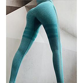 cheap -Women's Basic Legging Solid Colored Print Mid Waist Blue Purple Blushing Pink S M L
