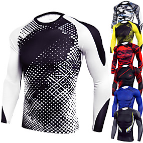 cheap -JACK CORDEE Men's Long Sleeve Compression Shirt Running Shirt Running Base Layer Top Athletic Winter Spandex Breathable Moisture Wicking Soft Fitness Gym Workout Running Active Training Jogging