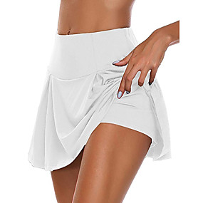 cheap -Women's Daily Wear Date Basic Sexy Skirts Solid Colored Layered White Black