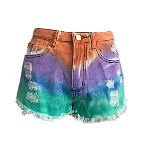 cheap -Women's Basic Outdoor Loose Daily Shorts Pants Tie Dye Purple Orange